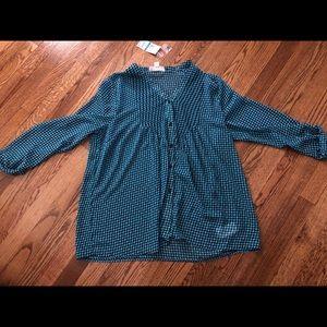 Nwt Michael Kors chiffon shirt